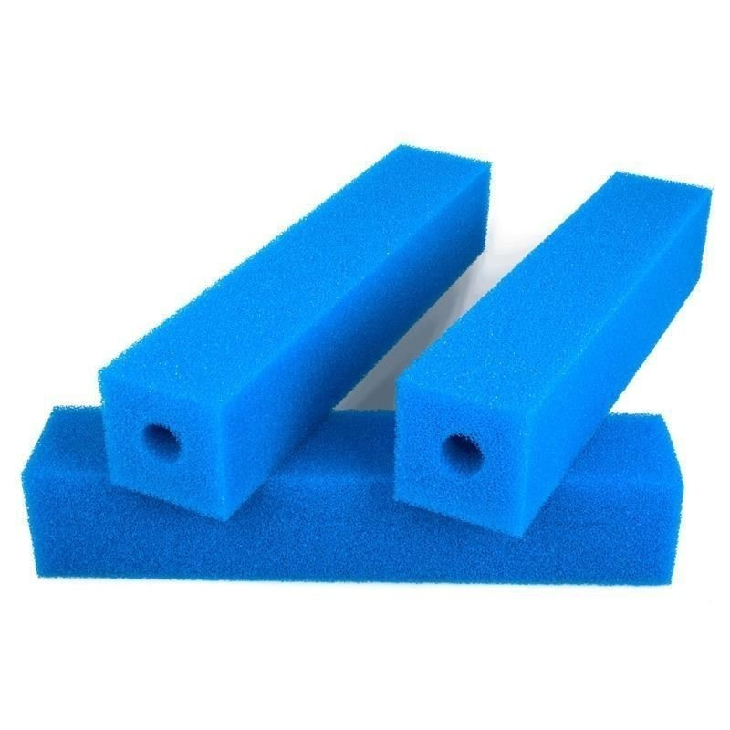 Foam cartridge 50 x 10 x 10 cm with 32mm drill hole