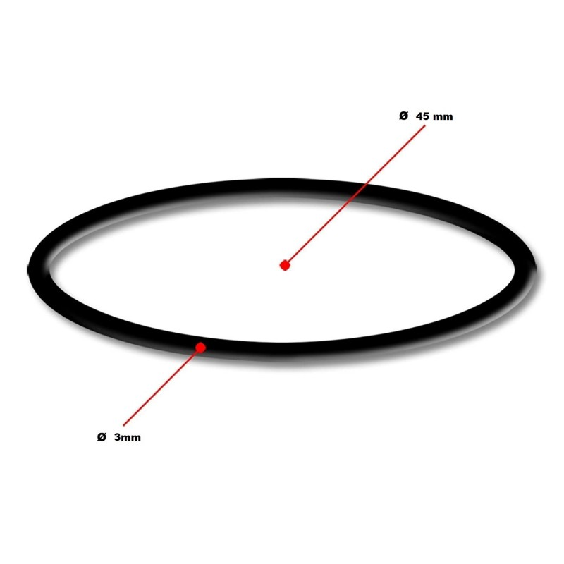 Rubber ring for compact4pool sice 45 x 3 mm