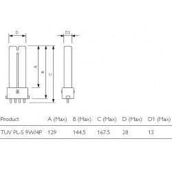 PHILIPS PL-S 9 watt 4 pin